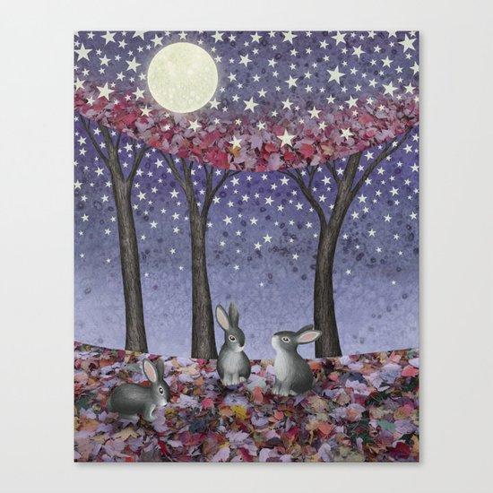 starlit bunnies Canvas Print