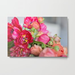Fiery Red Flowers Metal Print