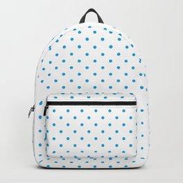 Mini Oktoberfest Bavarian Blue Polkadots on White Backpack