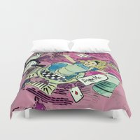 drink Duvet Covers featuring Drink me  by Paola Rassu