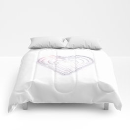 White Snow Heart On A White Background #decor #society6 Comforters