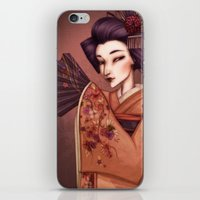 mother iPhone & iPod Skins featuring Mother by Christine Alcouffe