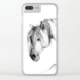 Old Horse Clear iPhone Case