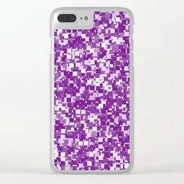 Winterberry Pixels Clear iPhone Case