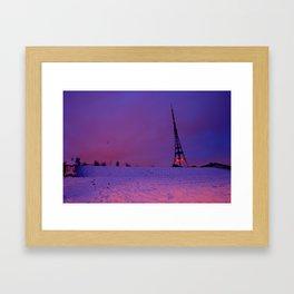 Snowball Fight Framed Art Print