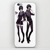 tokyo ghoul iPhone & iPod Skins featuring kaneki touka tokyo ghoul by Lee Chao Charlie Vang