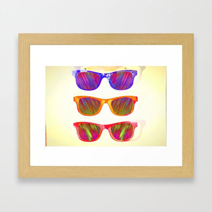 Sunglasses In Paradise Framed Art Print