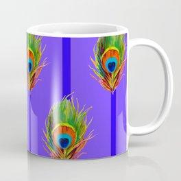 Decorative Contemporary  Peacock Feathers Art Coffee Mug