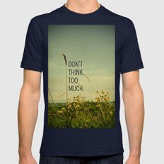 Travel Like A Bird Without a Care Navy MEDIUM Mens Fitted Tee