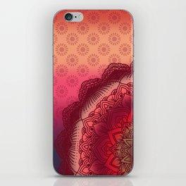 Bohemian Sunset Mandala Purple Red Pink Orange iPhone Skin