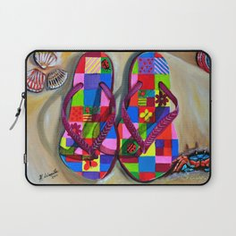 Beach Sandals Laptop Sleeve