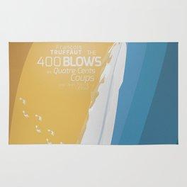 The 400 Blows, les Quatre cents coups, François Truffaut, minimalist movie poster, Jean-Pierre Léaud Rug