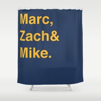memphis Shower Curtains featuring Memphis Grizzlies by Will Wild