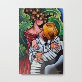 Piano Guajiro - Miguez Cuban Art Painting Metal Print