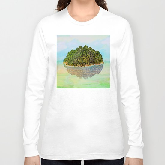 Lost in the Green Island / Nature 05-12-16 Long Sleeve T-shirt