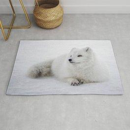 White snow arctic fox Rug