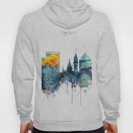 Watercolor Oakland skyline cityscape Hoody