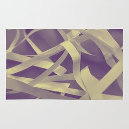 Purple paper Rug
