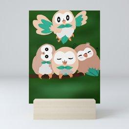 Cuddly Rowlets Mini Art Print