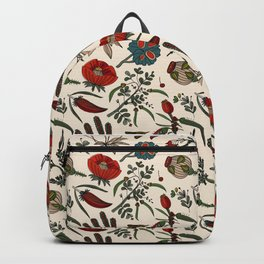 Pattern from field flowers and herbs Backpack