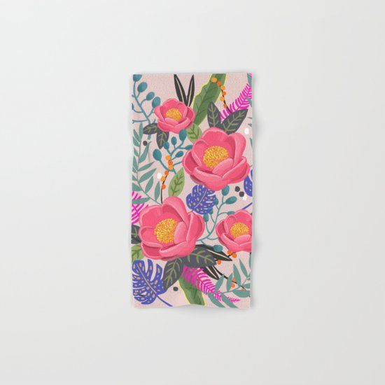 Romantic Blossom, flower print, floral print Hand & Bath Towel