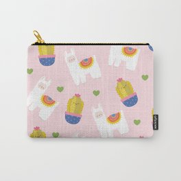Llama Loves Pink Carry-All Pouch
