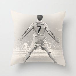Cristiano Ronaldo - Real Madrid RMFC Throw Pillow
