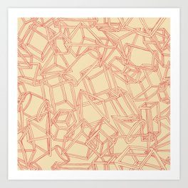 Geojumble One Art Print