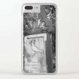 rooster grave Clear iPhone Case