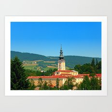 The monastery of Schlaegl | architectural photography Art Print