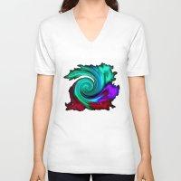 portal V-neck T-shirts featuring Portal. by #pavel_petrov_art2