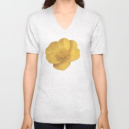 Buttercup Cutout Unisex V-Neck