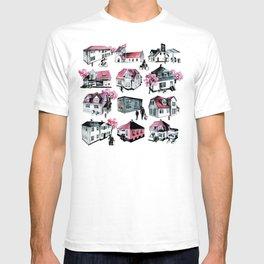 Danish small town pattern T-shirt