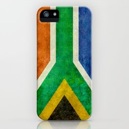 """Flag of South Africa - retro style """"Banner"""" version iPhone Case"""