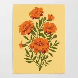 Marigold Flowers Poster