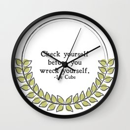 Floral - Check Yourself Wall Clock