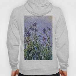 Claude Monet  -  Iris Mauves Hoody