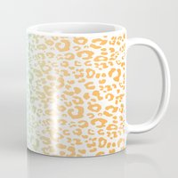 leopard Mugs featuring LeopARD by Monika Strigel