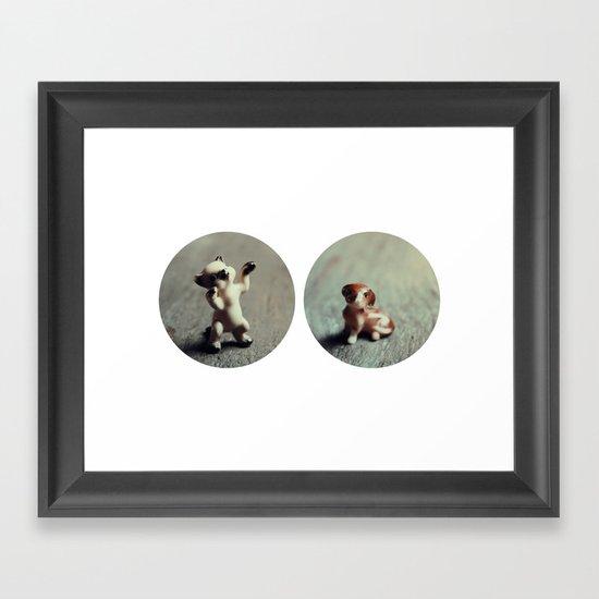 Cats & Dogs Framed Art Print