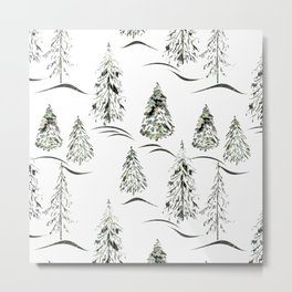 Winter forest. Metal Print
