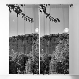 rock cliff at lim channel fjord istria croatia europe black white Blackout Curtain