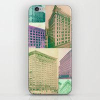 buildings iPhone & iPod Skins featuring Buildings by Sarah Brust