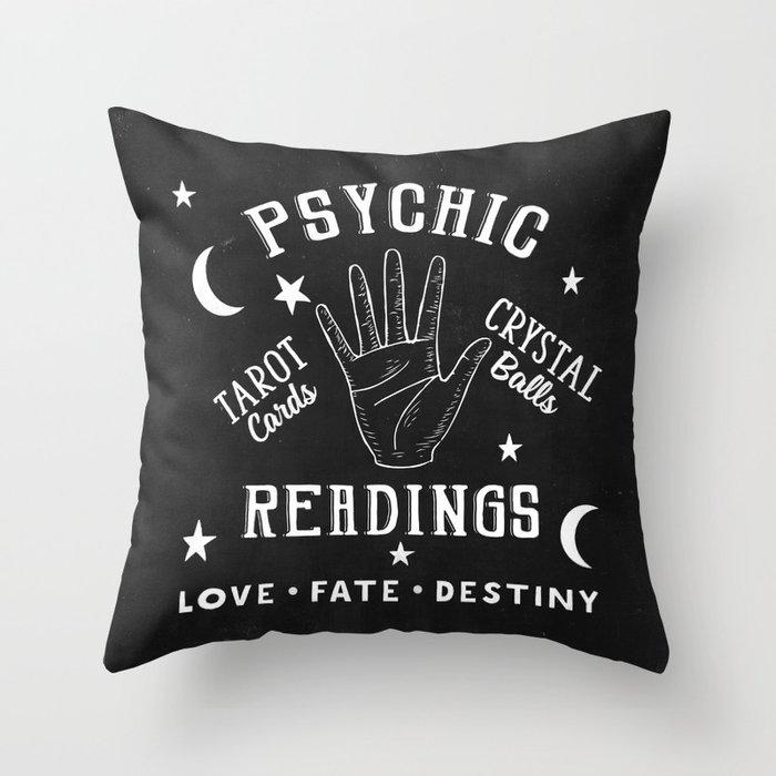 Psychic Readings Fortune Teller Art Throw Pillow