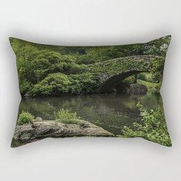 Gapstow Bridge at Central Park. Rectangular Pillow