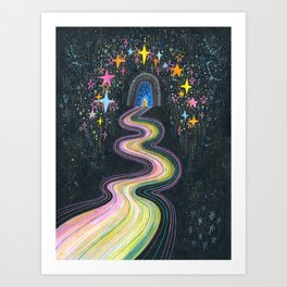 New path reveals itself Art Print