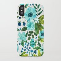 oana befort iPhone & iPod Cases featuring FLORA BLUES by Oana Befort