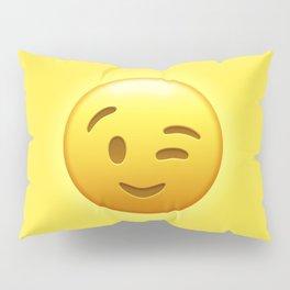 Emoji Winking Face Pillow Sham