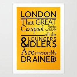 Holmesian London Art Print