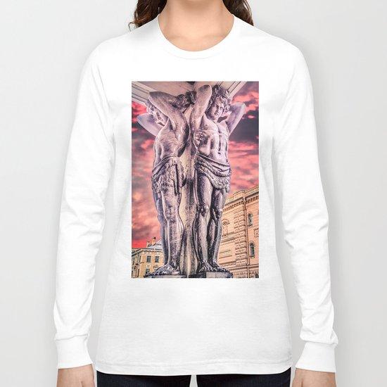 Atlantes of the New Hermitage in Saint-Petersburg Long Sleeve T-shirt