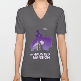 Hatbox Ghost - Land Unisex V-Neck